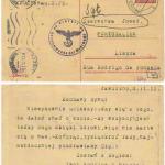 Kartka od rodziców z 1941